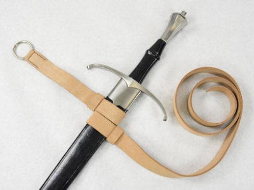 Double Strap Hanging Sword Belt - Natural - SNLA6428N