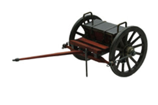 "Civil War Limber Display (12"") Matches Cannon"