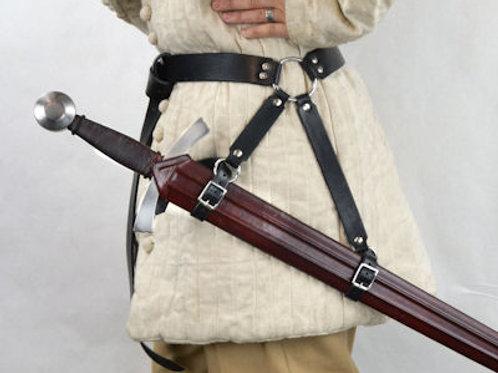 AH4330Br or BL Hanging Ring Sword Belt