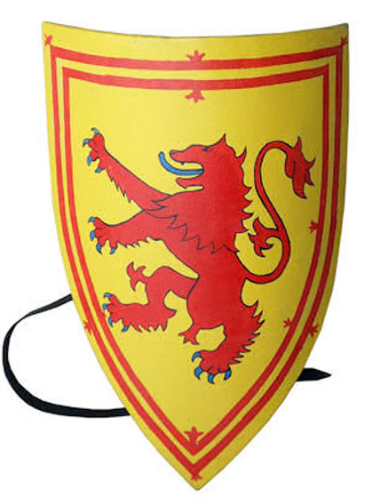 Crusader Lion Shield - Red Lion on Yellow with border - AH3894N