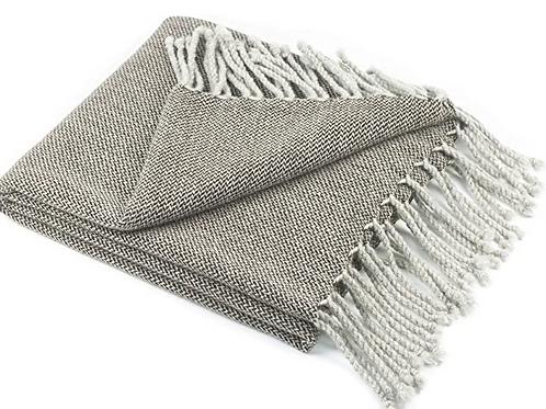 """Wool Heringbone Weave 50*70"""" Blanket"""