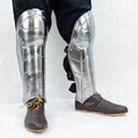 Greaves with Fixed Knee Armor - 20 Gauge Steel - SNSA9502P20