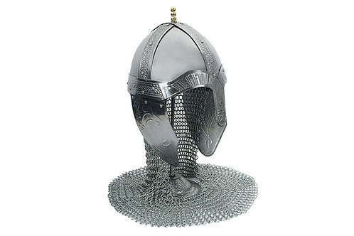 Medieval Helm w/ Chainmail Aventail