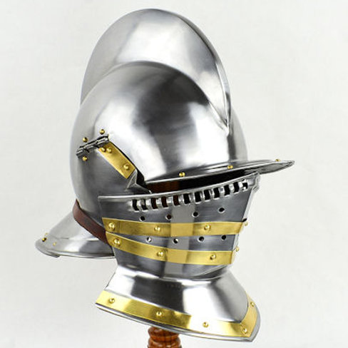 16th Century Burgonet with Falling Buffe Visor - AH3819