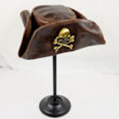 Jolly Roger Leather Hat - Close Out - SNLA6363BR