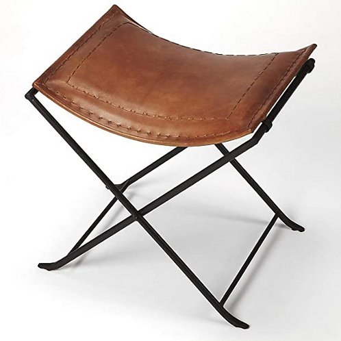 Deluxe Leather Padded folding stool