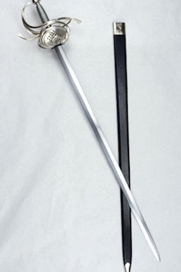 17th Century Pappenheimer Pierced Shell Guard Rapier - AH6986