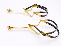 Gothic Knight's Long Spurs - Brass - AH6706