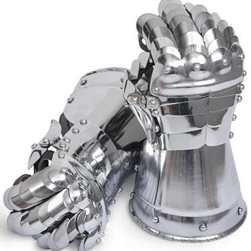 Late Medieval Gauntlets - 20 Gauge Steel - SNSA9401P20