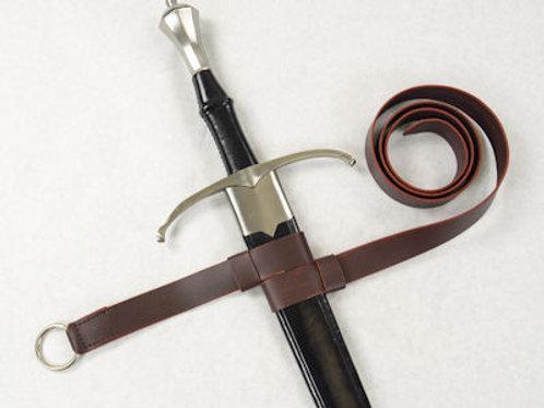 Double Strap Hanging Sword Belt - Brown - SNLA6428BR