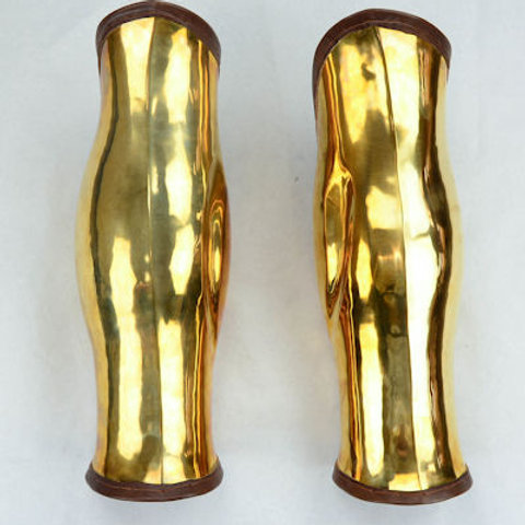 AH6140 Brass Greek Greaves