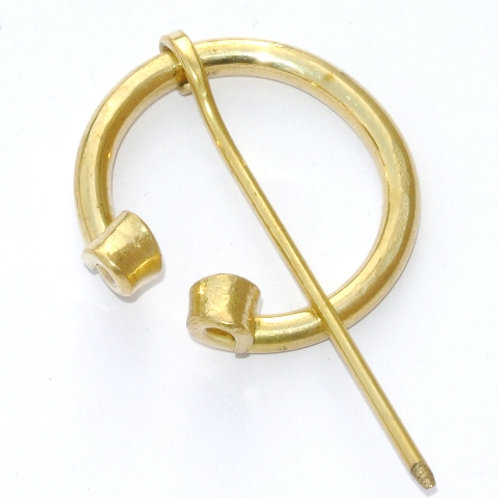 Brass Paenannular Fibula with Rolled Ends