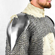 Visby Pauldrons - Mountable Upgrade for Chainmail and Padded Armor - LB25417