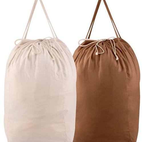 Brown or Natural Large Equipment Bag