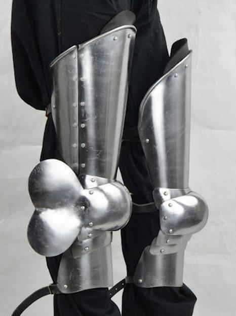 14th - 15th Century Leg Armor - 16 Gauge - SNSA9554P16