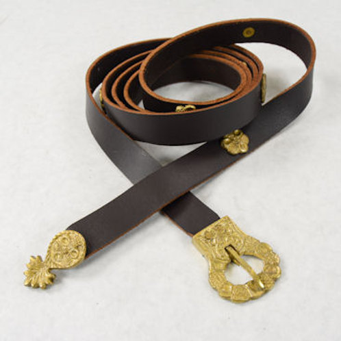 Viking Belt with Brass Studs - SNLA6405BR