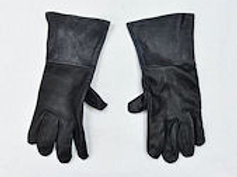 Black Leather Swordsman's Gauntlets - LB6819BKL