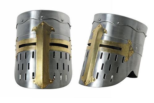 Brass Cross Crusader Helmet
