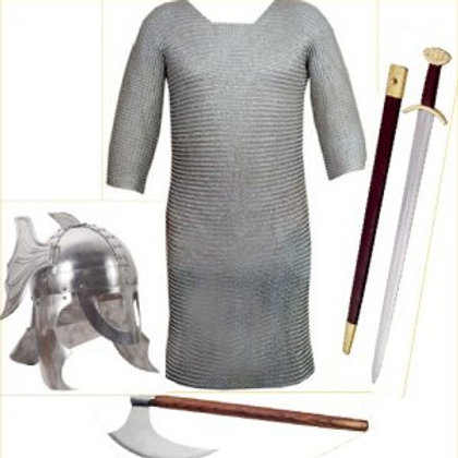 Viking Winged Horned Helm Costume kit