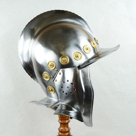 Open-Faced Burgonet Helm - 18 Gauge - AH6781