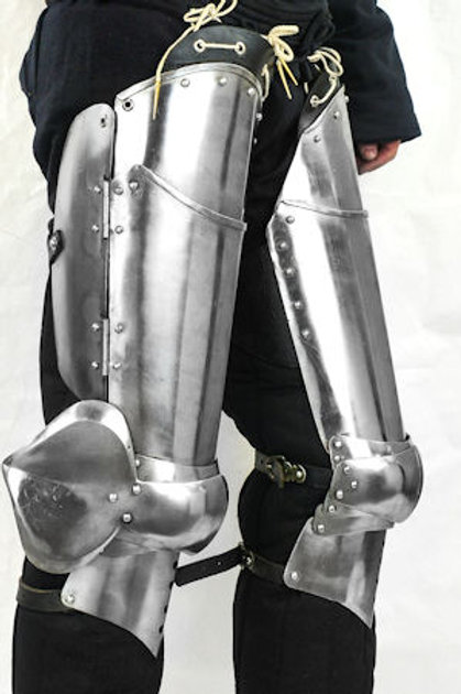 Leg Armor Set / Cuisse and Poleyn - 16 Gauge Steel - LB25519