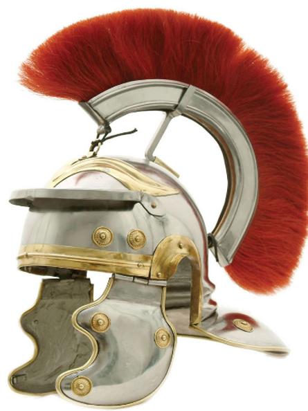 Roman Trooper Helm W/ Crest