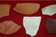 Recreated Ostraca from Vindolanda