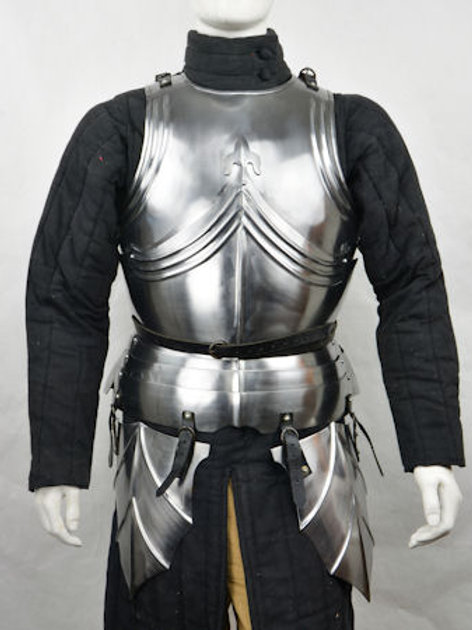 Late Medieval Gothic Cuirass with Tassets - 18 Gauge Steel - LB25186