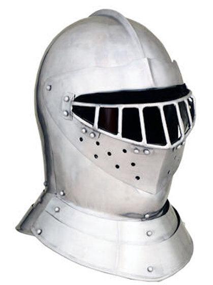 English Tourney Close Helm - 14 Gauge - AH6794_14