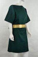 Ah6106_Gr Green Wool Tunic