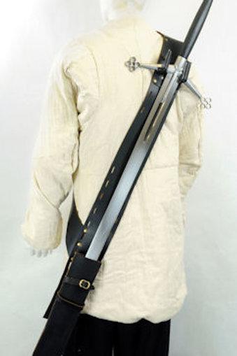 Back-Hanging Sword Baldric - For wearing swords on the back - SNLA6411BK