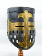 Darkened Crusader Helm - 18 Gauge - AH3831D