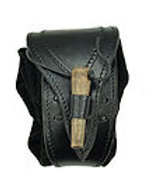 Leather Belt Pouch with Toggle - AH4156