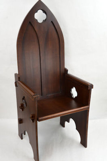 Gothic Medieval High Back Chair - F0005