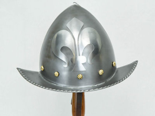 16th - 17th Century Etched Morion Helm - 18 Gauge Steel - AH4134