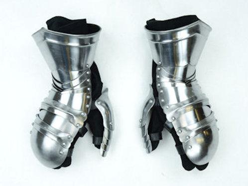 Clamshell Gauntlets - 16 Gauge Steel - SNSA9402P16