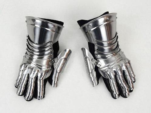Late Medieval Steel Gauntlets - 18 Gauge Steel - AH6024N