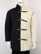 Modifiable Gambeson with Optional Half-Sleeves - Black and Natural Duo Tone