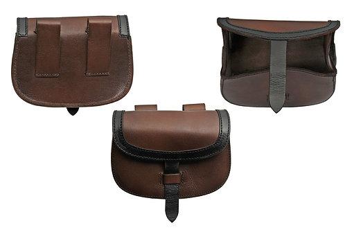 Brown Bag w/ Black Strap belt bag