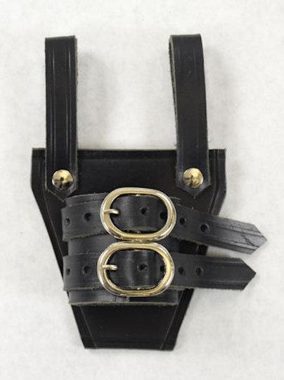 Black Leather Sword Frog - SNLA6508BK