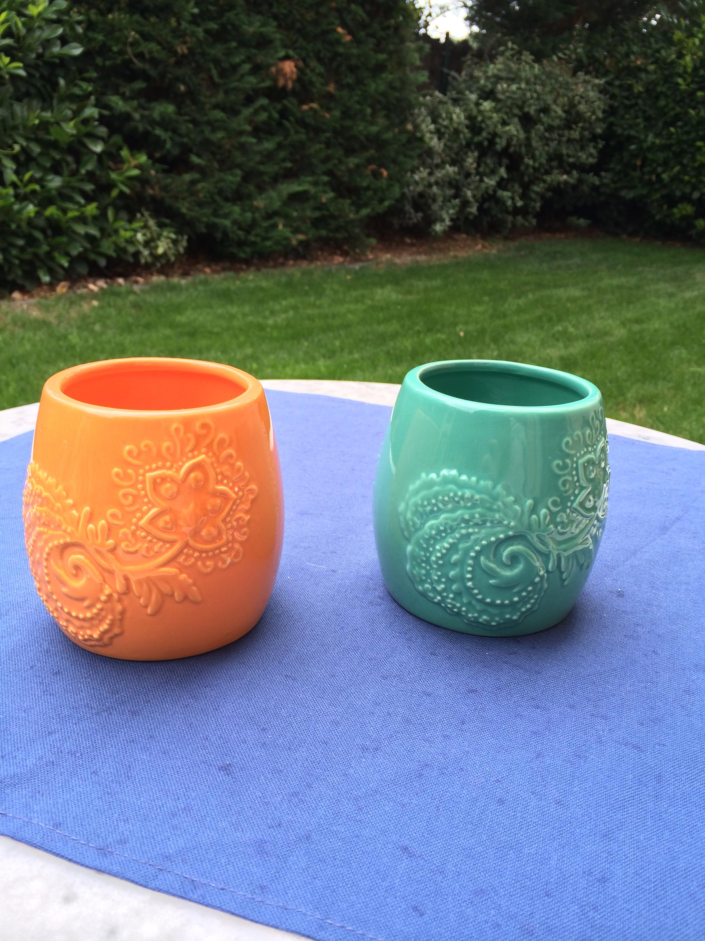 2 pots en céramique
