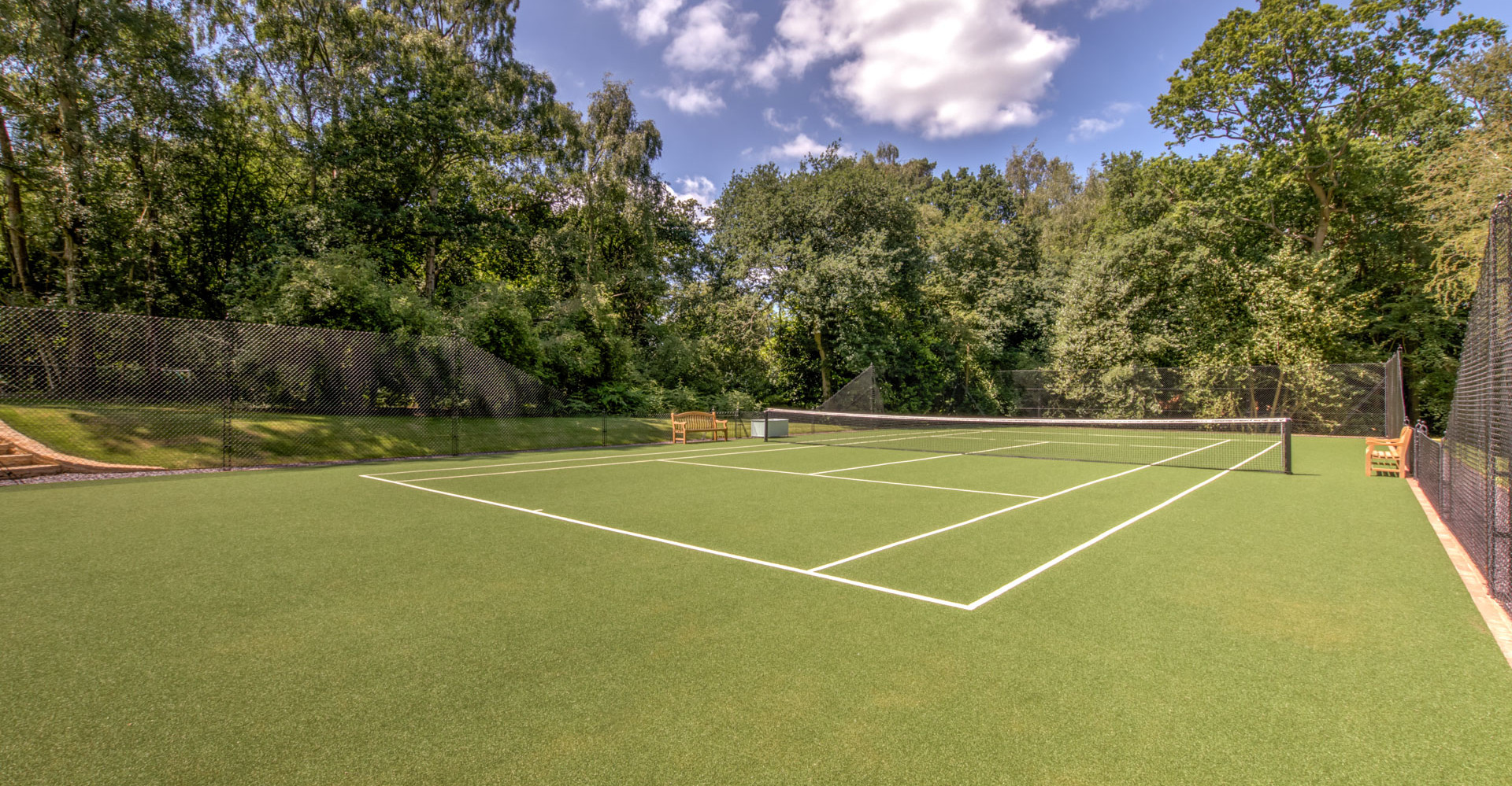 Tennis Court is shared with guests in main house