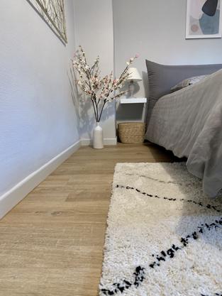 Tapis berbère dans une chambre cosy