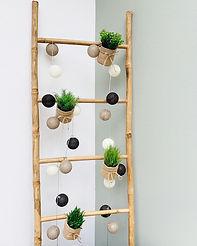 Echelle en bambou décorative