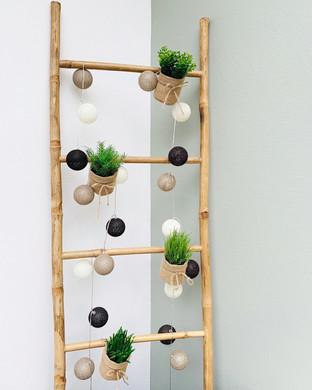 Décoration échelle en bambou