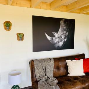 Grande toile rhinocéros