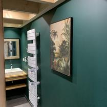 Salle de bain verte et nature
