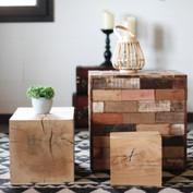 Décoration cubes en bois
