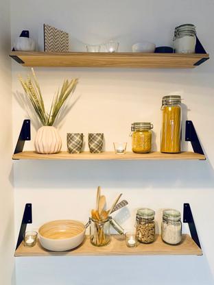 Décoration étagère de cuisine