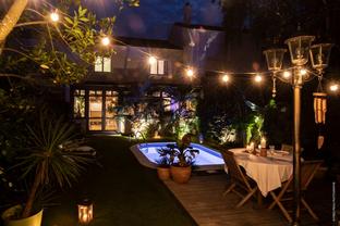 Décoration jardin de nuit